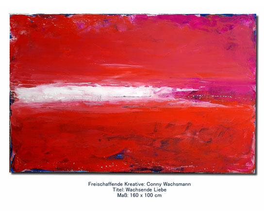 Bild rot - Wachsende Liebe 160 x 100 cm