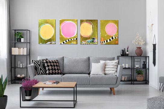 abstrakte Bilder Serie - Lange Wege