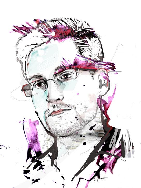Snowden portrait