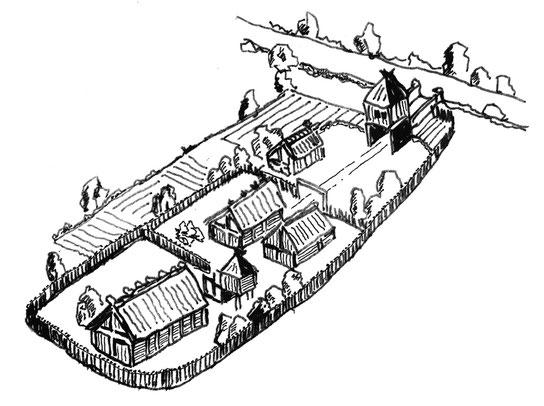 Mögliche Ansicht eines Königshofes der damaligen Zeit