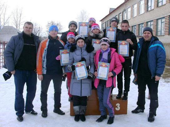 На лыжных гонках в Карельской школе