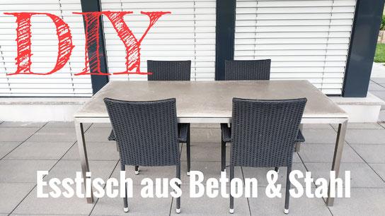 Eine Tischplatte aus Beton selber bauen