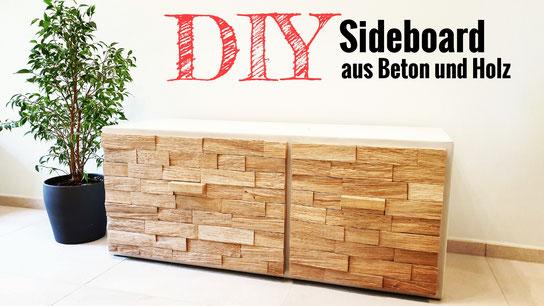 DIY Sideboard aus Beton und Holz