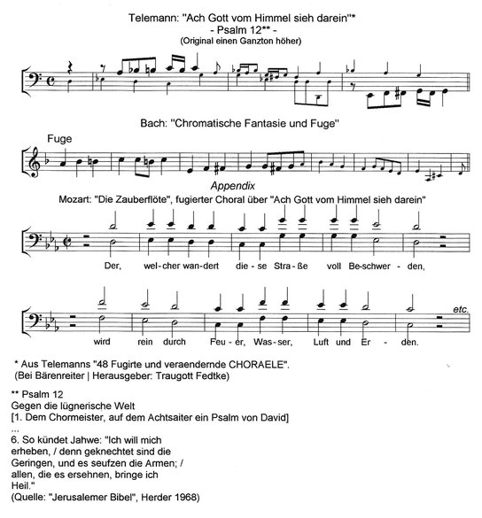 Martin Luther | Georg Philipp Telemann | Johann Sebastian Bach | Wolfgang Amadeus Mozart