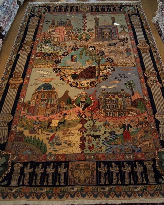 TABRIZ OLD パルデサイズ  DOMOTEX展示会にて一目惚れした絨毯です。