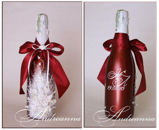 """Шампанское """"Бордо"""" с нанесением монограммы, 650грн (в любом желаемом цвете)."""