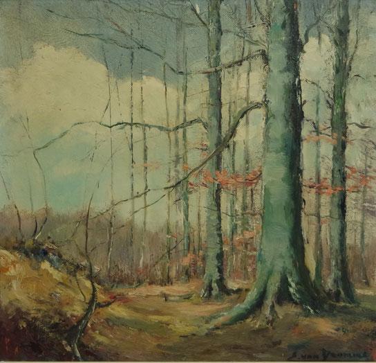 te_koop_aangeboden_een_bosgezicht_van_de_belgische_kunstschilder_emiel_van_dromme_1913-1998