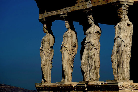 Mathieu Guillochon photographe, voyage, Grèce, Athènes, Acropole, temple, art, architecture, Phidias, sculpture, érechtérion, cariatides, couleurs.