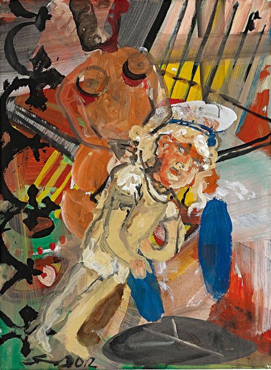 Böser Junge · 2012 · 800 x 1.000 mm · Öl auf Pappe