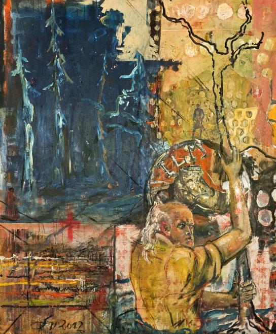 Christophorus · 2012 · 1.600 x 1.900 mm · Öl auf Leinwand