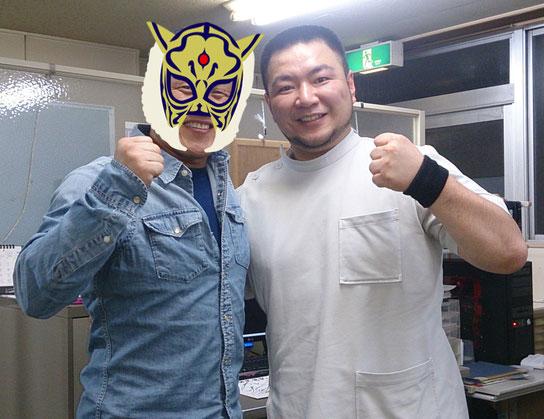 4代目タイガーマスク選手(素顔の為マスクを合成しました)