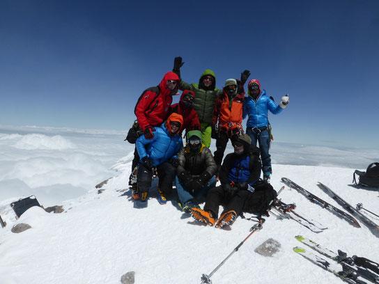 Elbrus Gipfelerfolg, Elbrus mit Ski, Elbrus als Skitoiur, Elbrus individuell, Elbrus organisiert, Elbrus pdf