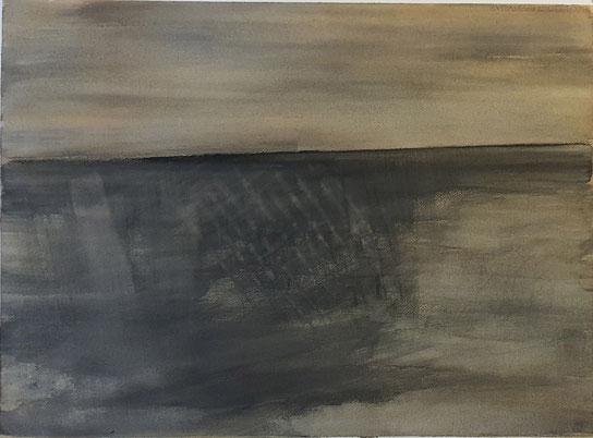 Aquarelle sur papier, 56x76 cm