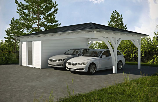 carport am haus referenzen carports holz carport und. Black Bedroom Furniture Sets. Home Design Ideas