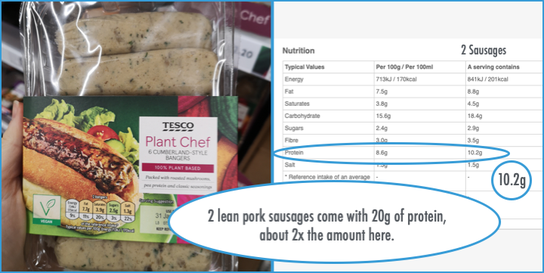 vegan sausage, vegetarian, tesco, plant chef, plant based, healthy