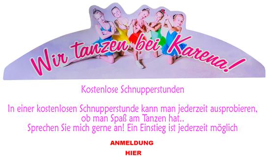 Schnupperstunden bei der Ballettschule Karena
