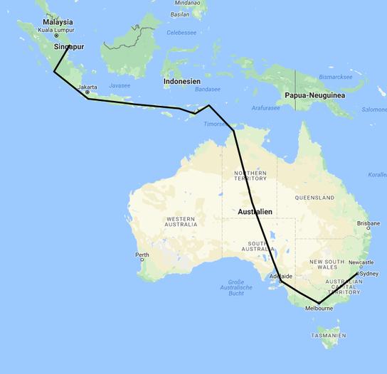 Idee Singapur bis Sydney