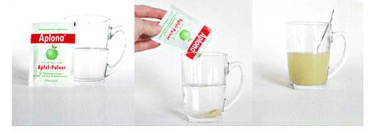Dosierung von Apfelpulver gegen Durchfall