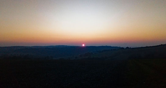 Sonnenuntergang in Richtung Karlsruhe