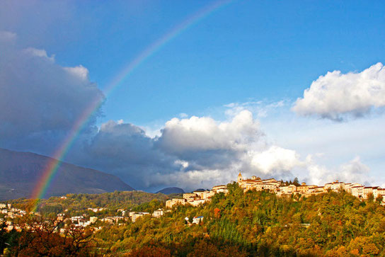 Rainbow over Amandola             photo by M. Joseph