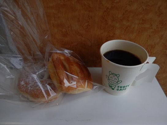 Turfy Cafe02 ドーナツとコーヒー