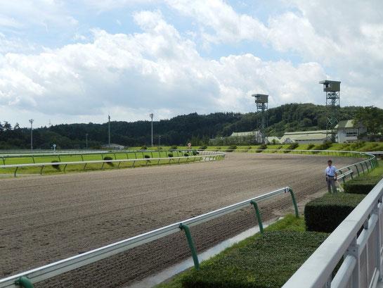 盛岡競馬場 レースコース 1コーナー