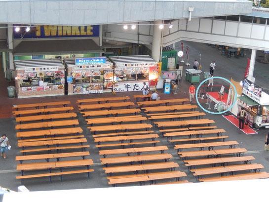 大井競馬場、L-WING横特設会場、東京トゥインクル・バール特設ステージ