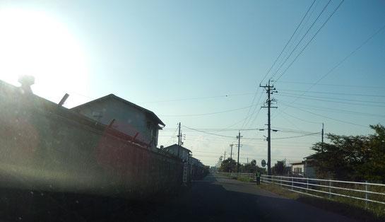 笠松競馬場 競馬場への道