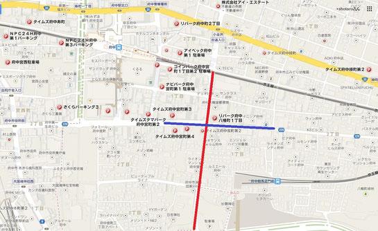 駐車場,府中駅,府中競馬正門前駅,周辺
