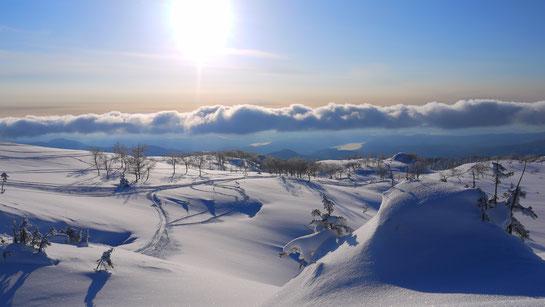 Mt asahidake backcountry at dusk