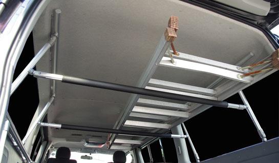 ハイエース用の棚として便利な車内用キャリアです。トランポプロ商品