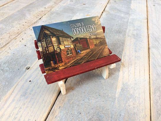 porta biglietti da visita in legno