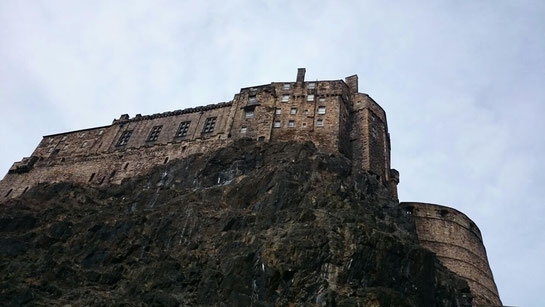 View from the parking garage to Edinburgh Castle