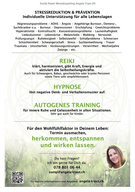 Müde, angespannt, unausgeglichen, kraftlos? #auftanken #reiki #autogenestraining #hypnose #angelatraut #chillaction
