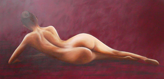 Eva - Öl auf Leinwand - 50 x 120