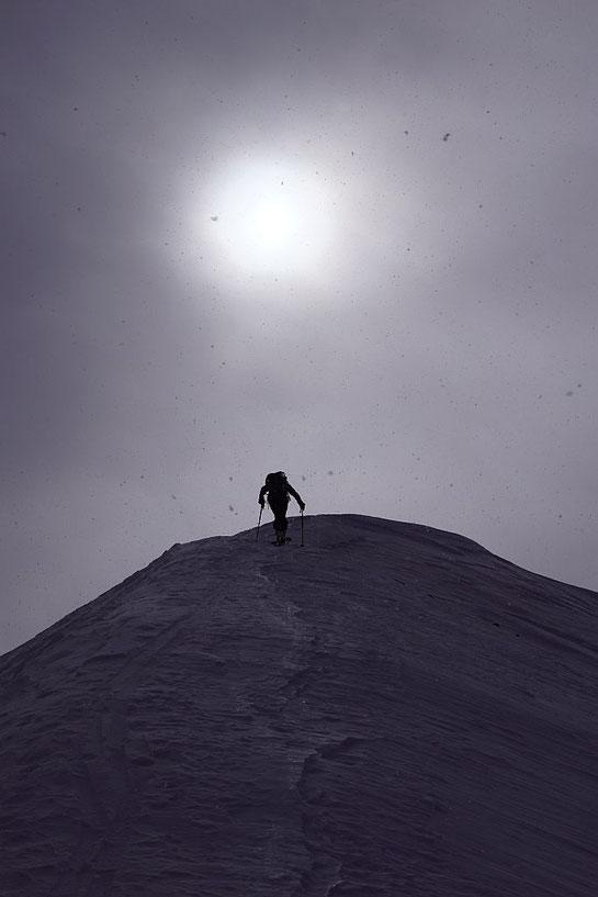 Am Nordgrat geht es die letzten Meter hinauf zum Pfannock