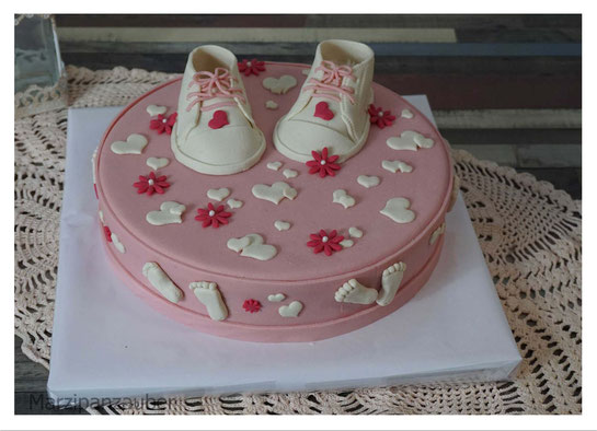 Torte Baby-Party, Torte Baby-Shower, Its´s a girl, Baby-Party Maedchen,  Marzipan Marzipanzauber
