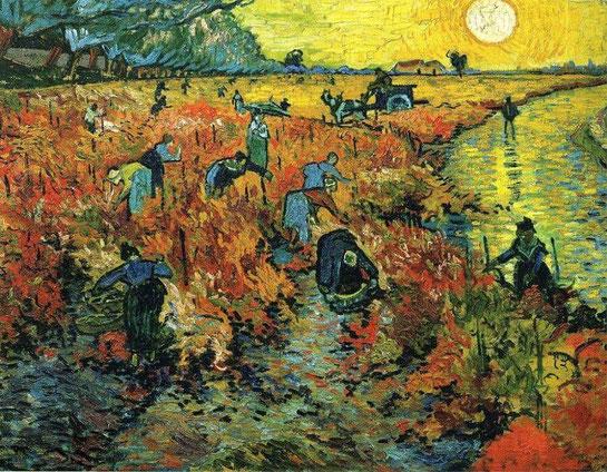 Красные виноградники в Арле - Винсент Ван Гог