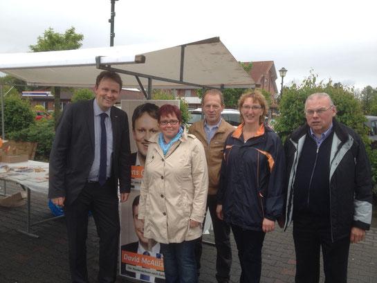 Mitglieder der Twister CDU gemeinsam mit Jens Gieseke beim Frühlingsfest Foto: CDU Twist