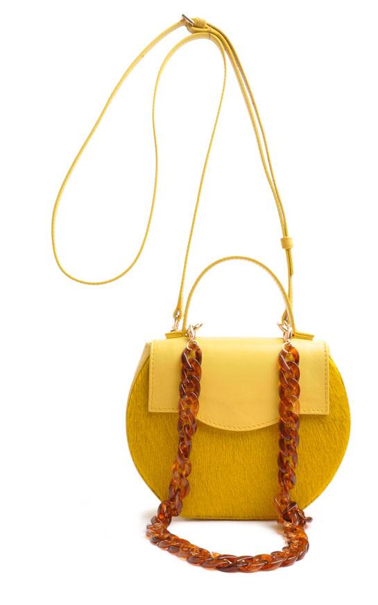 Dirndltasche aus blauem Leder, edle Trachtentasche, Handgearbeitet OSTWAWLD Traditional Craft