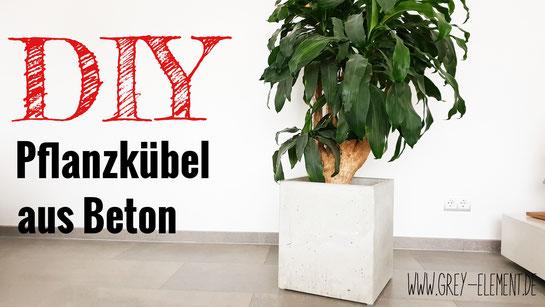 DIY-Anleitung für einen stylischen Pflanzenkübel aus Beton