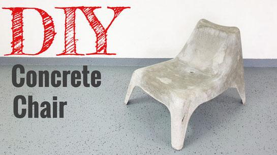 Einen Stuhl aus beton selber bauen
