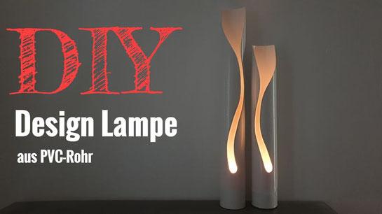 DIY Design Lampe aus PVC-Rohr selber bauen