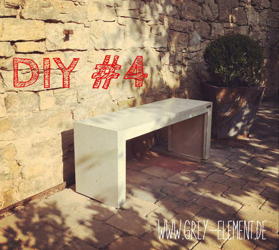 DIY Sitzbank aus Beton selber bauen