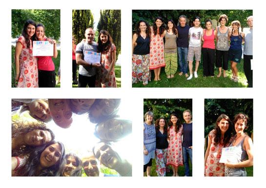 Fin de curso 2014-2015 fotos del grupo y entrega de diplomas