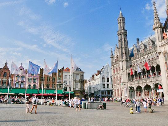 Belgien, Brügge Groote Markt Marktplatz