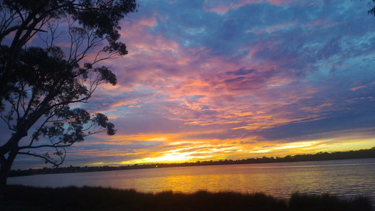 Water way / Canning River / Sunset