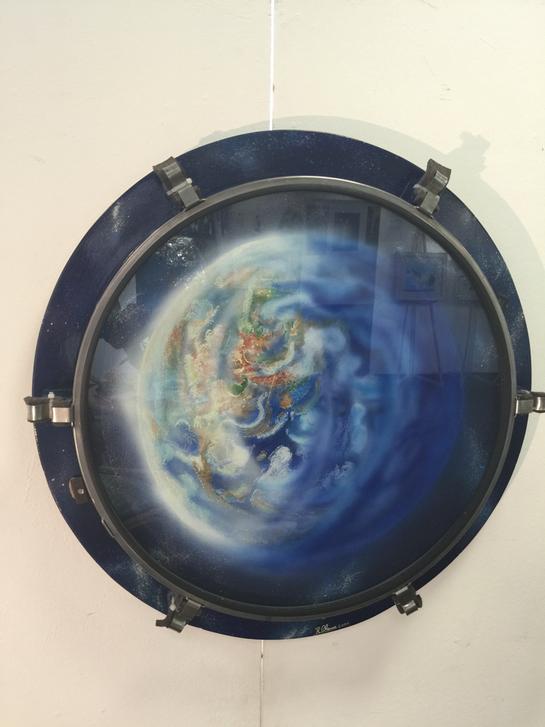 Rundes Ölbild