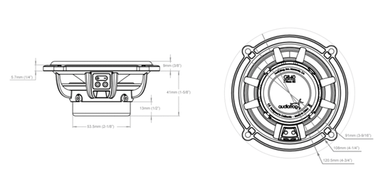 Skizze Audiofrog GB40 Lautsprecher