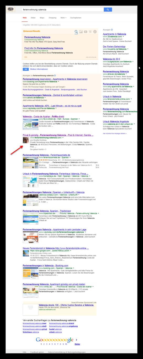 Screenshot 25.12.2013, Google Seite 1